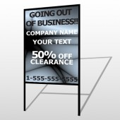 Gray Going Out of Business Sale 12 H Frame Sign