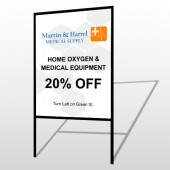 Home Oxygen 139 H-Frame Sign