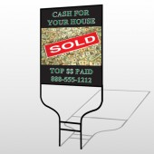 Cash Sold 250 Round Rod Sign