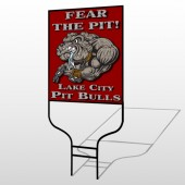 Fear Dog Mascot 51 Round Rod Sign