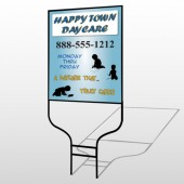 True Happy Care 182 Round Rod Sign