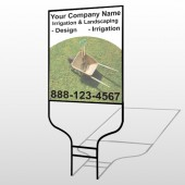 Wheel Barrow 261 Round Rod Sign