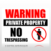Warning Private Property No Trespassing Sign Panel