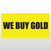 We Buy Gold Banner