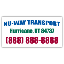 Nu-Way Transport Magnetic Sign - Magnetic Sign