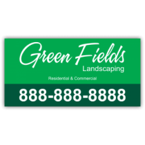 Green Fields Landscaping Company Magnetic Sign - Magnetic Sign