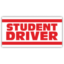 Student Driver W/Red Bars Magnetic Sign - Magnetic Sign