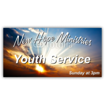 New Hope Ministries Youth Service Vinyl Banner