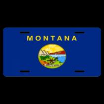 Montana State Flag License Plate