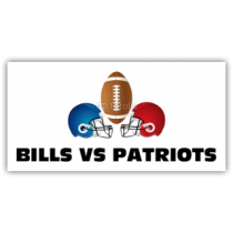Bills Vs Patriots Football Banner
