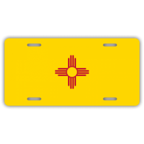New Mexico State Flag License Plate