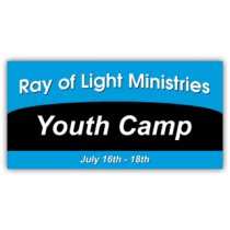Ray of Light Ministries Youth Camp Vinyl Banner