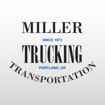 Miller 334 Truck Lettering