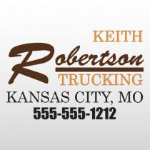 Robertson 333 Truck Lettering
