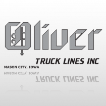 Oliver 339 Truck Lettering