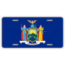 New York State Flag License Plate