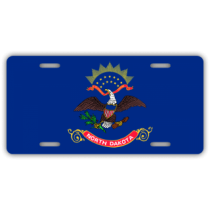 North Dakota State Flag License Plate