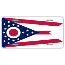 Ohio State Flag License Plate