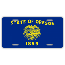 Oregon State Flag License Plate