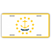 Rhode Island State Flag License Plate