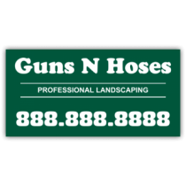 Guns N Hoses Landscaping Company Magnetic Sign - Magnetic Sign