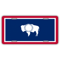 Wyoming State Flag License Plate