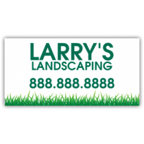 Larry's Landscaping Company Magnetic Sign - Magnetic Sign
