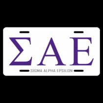 Sigma Alpha Epsilon License Plate