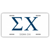 Sigma Chi License Plate