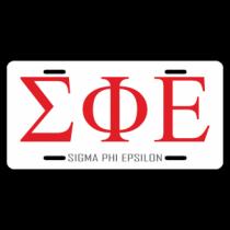 Sigma Phi Epsilon License Plate