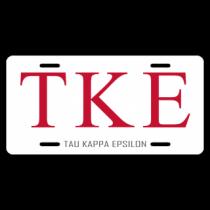 Tau Kappa Epsilon License Plate