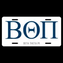 Beta Theta Pi License Plate