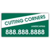 Cutting Corners Landscaping Company Magnetic Sign - Magnetic Sign