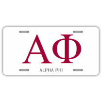 Alpha Phi License Plate