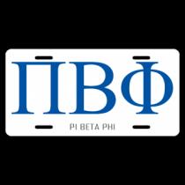 Pi Beta Phi License Plate