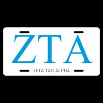 Zeta Tau Alpha License Plate