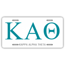 Kappa Alpha Theta License Plate