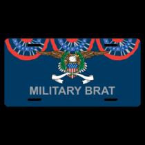 Military Brat License Plate