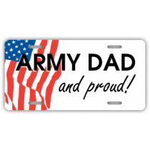Army Dad License Plate