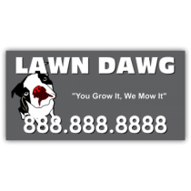 Lawn Dawg Landscaping Company Magnetic Sign - Magnetic Sign