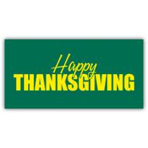 Happy Thanksgiving Yellow and Green