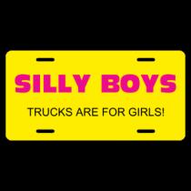 Trucks Are For Girls License Plate