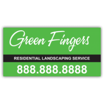 Green Fingers Landscaping Company Magnetic Sign - Magnetic Sign