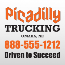 Picadilly 321 Truck Lettering