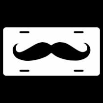 Moustache License Plate