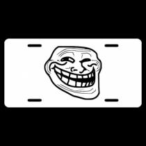 Trollface License Plate