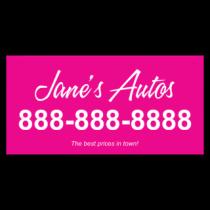 Jane's Auto Sales Vinyl Banner