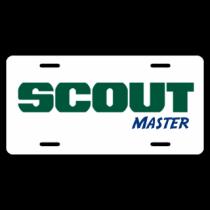 Scout Master - White BG License Plate