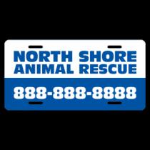 North Shore Animal Rescue License Plate