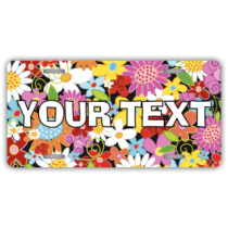 Colorful Flowers License Plate